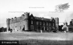 Croft Castle From South West And St Michael's Church c.1960, Yarpole