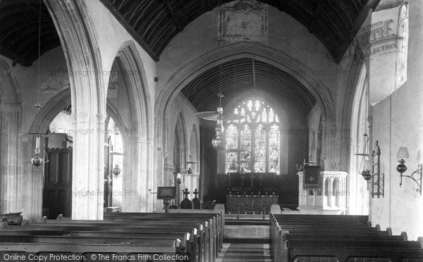 Photo of Yate, The Church Interior 1903