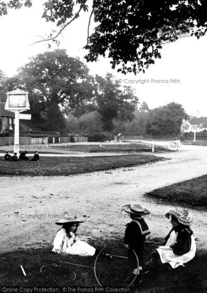 Photo of Yateley, Children On The Village Green 1906