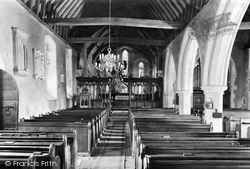 Yateley, Church Interior 1910