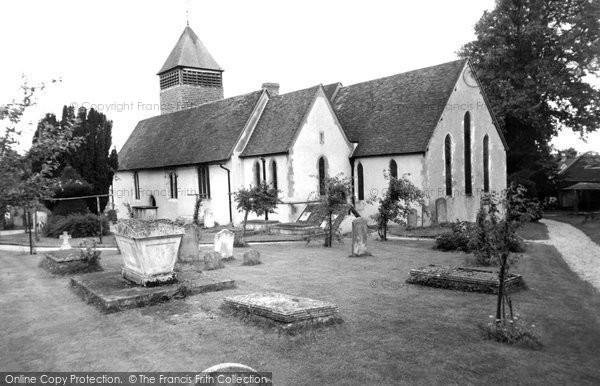 Photo of Yateley, St Peter's Church c.1955