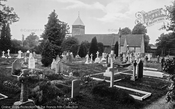 Photo of Yateley, The Church 1924