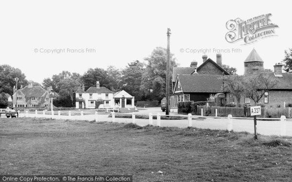 Photo of Yateley, The Village c.1955
