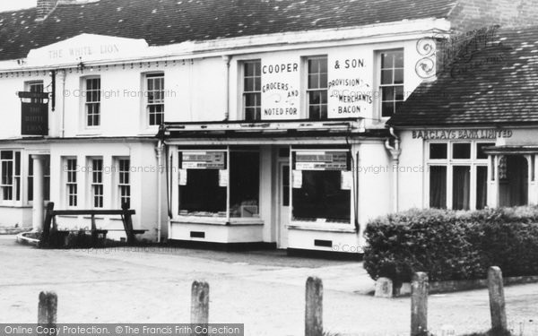 Photo of Yateley, The White Lion And Cooper & Son Grocers c.1960