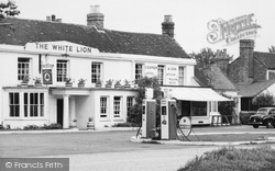 Yateley, The White Lion And Petrol Pumps c.1960
