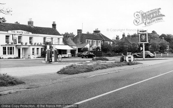 Photo of Yateley, The White Lion And Village c.1960