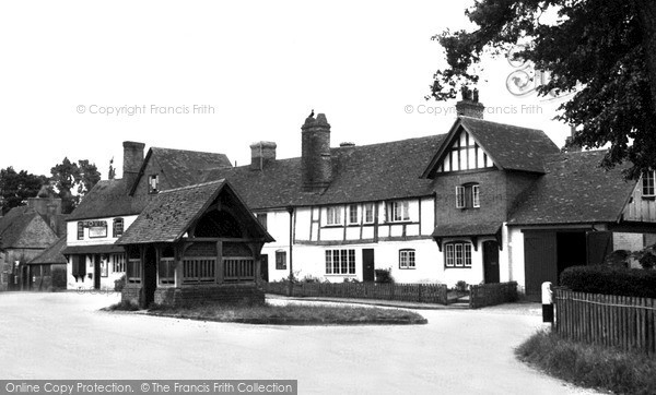 Photo of Yattendon, Old Cottages And Well, The Square c.1960