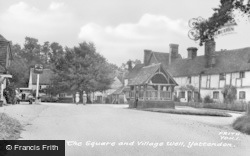 Yattendon, The Square And Village Well c.1950