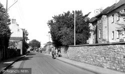 Yatton, The Hall And High Street c.1960