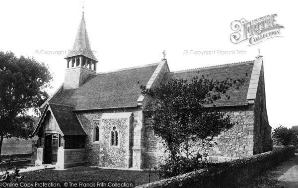 Photo of Yaverland, St John The Baptist Church 1890