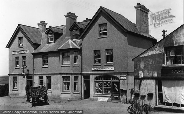 Photo of Yelverton, Post Office And Hotel 1898