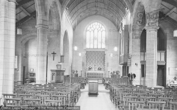 Photo of Yelverton, St Paul's Church Interior c.1955