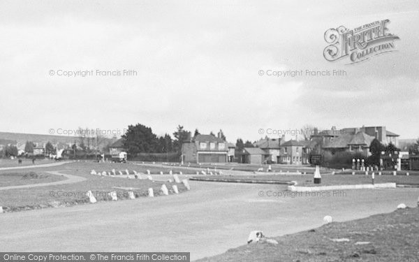 Photo of Yelverton, The Roundabout And Town c.1955