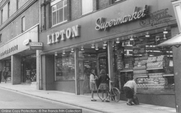Photo of Yeovil, Co Op And Lipton's Supermarkets c.1965