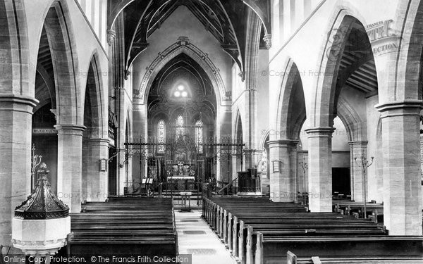 Photo of Yeovil, Holy Trinity Church, Interior 1900, ref. 45317