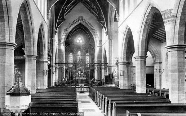 Photo of Yeovil, Holy Trinity Church, interior 1900