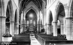 Yeovil, Holy Trinity Church, Interior 1900