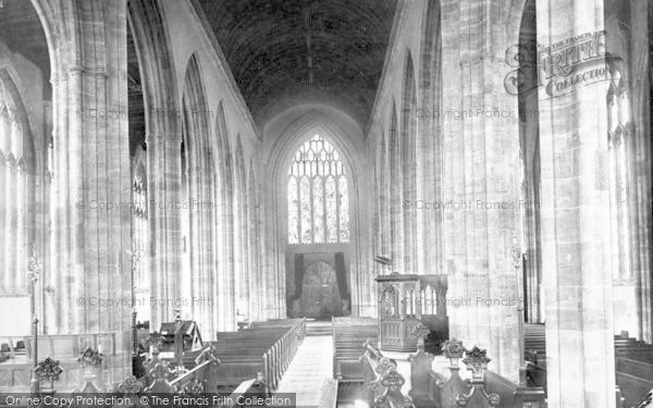 Photo of Yeovil, Parish Church Interior 1900
