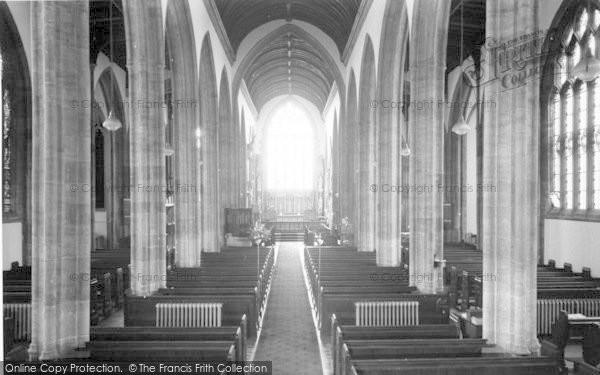Photo of Yeovil, Parish Church Interior c.1965
