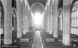 Yeovil, Parish Church Interior c.1965