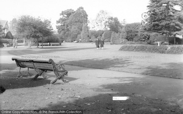 Photo of Yeovil, Sidney Gardens c.1955