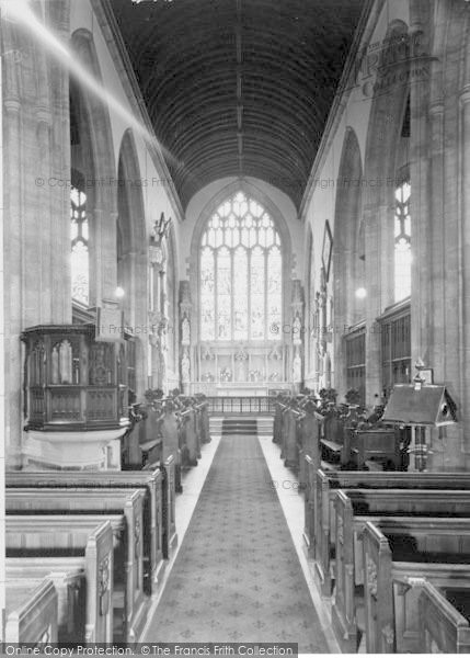 Photo of Yeovil, St John's Church Chancel c.1960