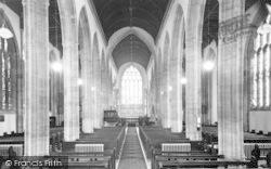 Yeovil, St John's Church Nave c.1955