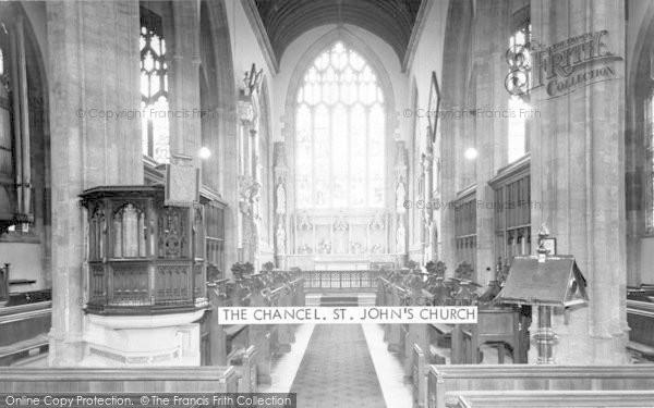 Photo of Yeovil, St John's Church, The Chancel c.1960