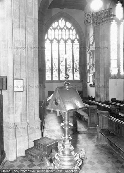 Photo of Yeovil, St John's Church, The Lectern c.1960