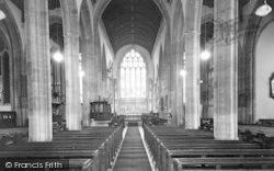 Yeovil, St John's Church, The Nave c.1955