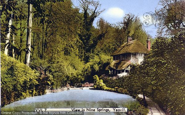Photo of Yeovil, View In Nine Springs c.1955