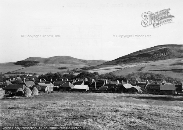 Photo of Town Yetholm, the Village from Law c1955, ref. Y26012