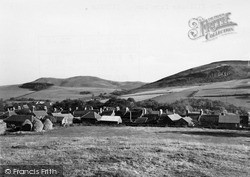 Yetholm, And Kirk Yetholm Villages From Law c.1955