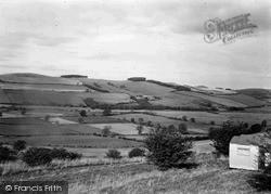 Yetholm, English Hills From Scotland c.1955, Town Yetholm