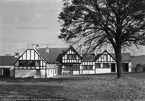 Photo of Town Yetholm, the Border Hotel c1955, ref. Y26007