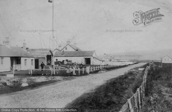 Photo of Ynyslas, Track With People 1903