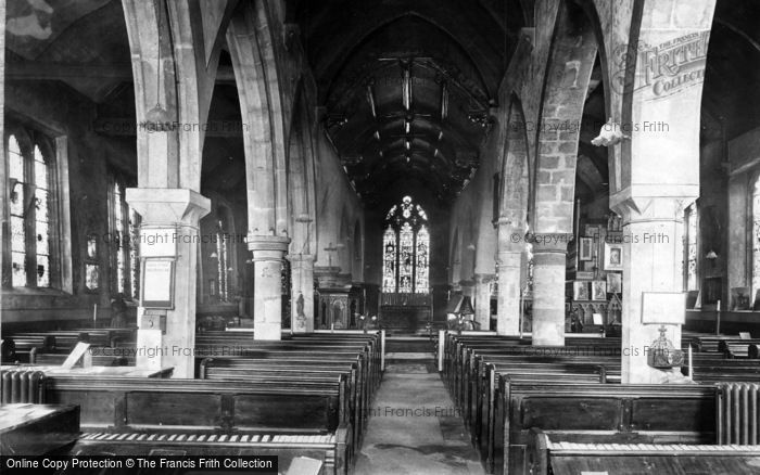 Photo of York, All Saints Church Interior, North Street 1909