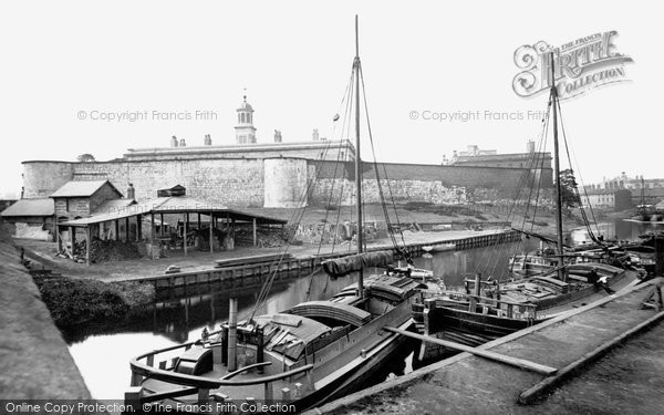 Photo of York, Barges on the Foss Navigation 1885, ref. 18494
