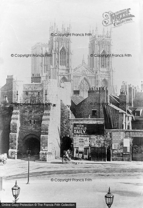 Photo of York, Bootham Bar 1886