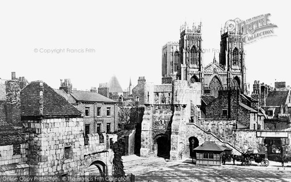Photo of York, Bootham Bar & the Minster 1893, ref. 32032