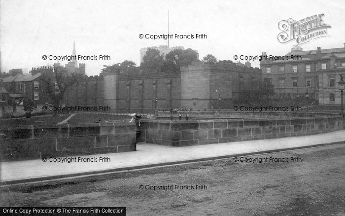 Photo of York, Castle From Skeldergate Bridge c.1885