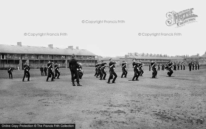Photo of York, Cavalry Barracks, 3rd Hussars Sword Practice 1886