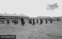 York, Cavalry Barracks, 3rd Hussars Sword Practice 1886