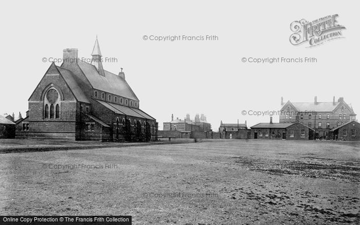 Photo of York, Cavalry Barracks, The Church 1886