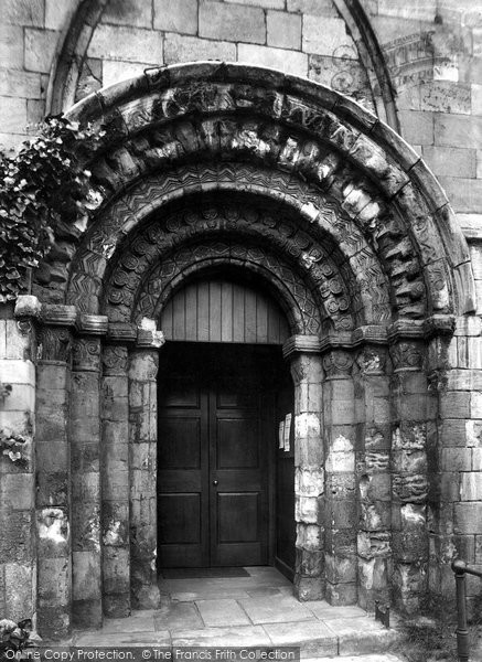 Photo of York, Church Of St Denys With St George, Norman Door 1908