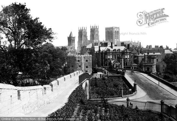 Photo of York, from City Walls 1885, ref. 18429