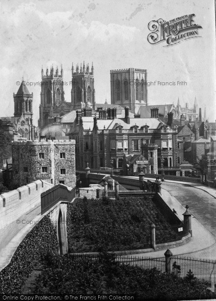 Photo of York, From City Walls 1885