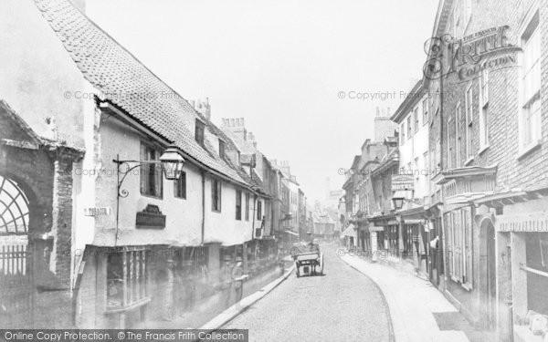 Photo of York, Goodramgate c.1880