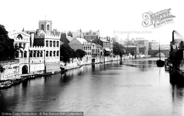 Photo of York, Guildhall From Lendal Bridge 1885