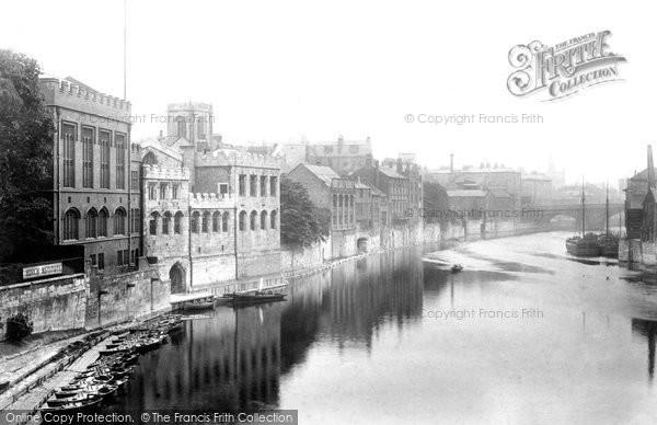 Photo of York, Guildhall From Lendal Bridge 1893
